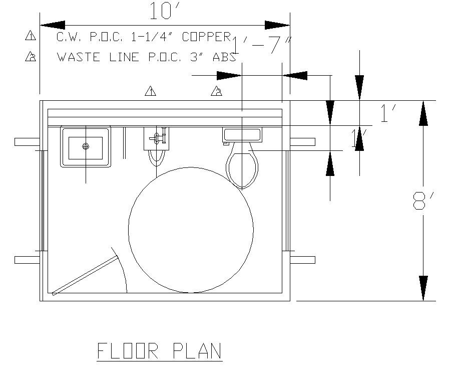 28 commercial bathroom floor plans floor plan for Ada bathroom floor plans